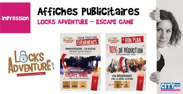 affiches publicitaires locks-adventure