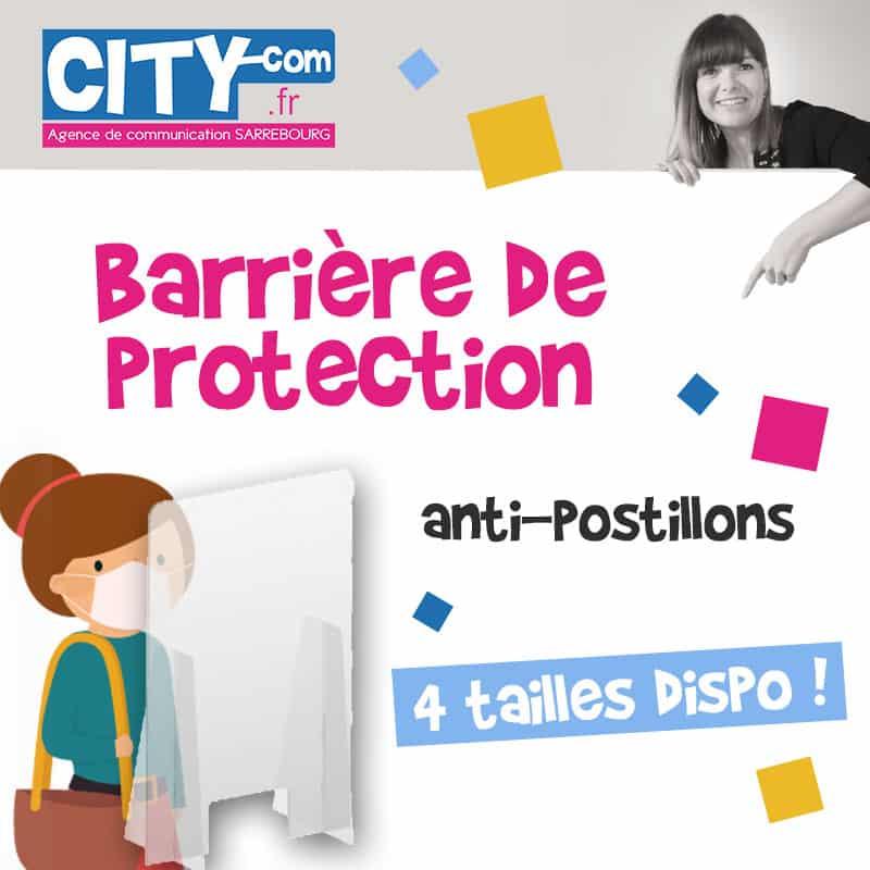 Barrière de protection anti-postillons