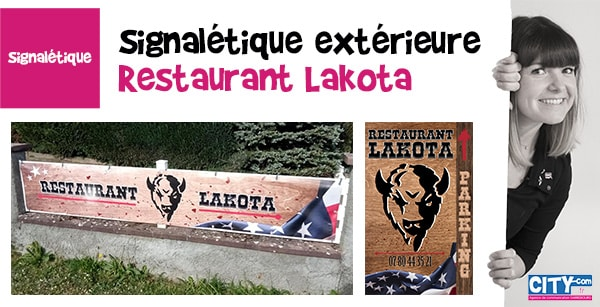 Signalétique du Restaurant Lakota