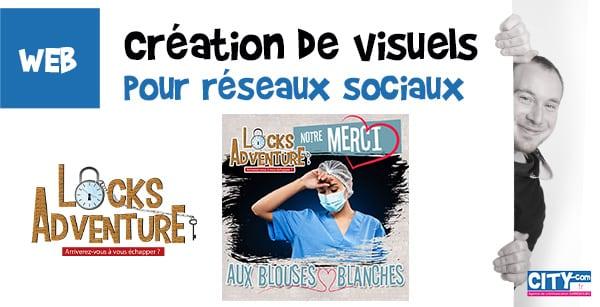CITY COM, Création de visuels pour réseaux sociaux : instagram, facebook, linkedin, ...